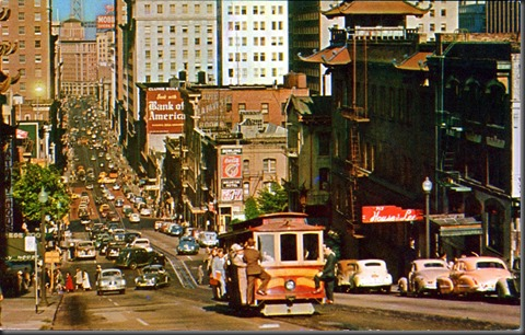 California Street SF 1950s