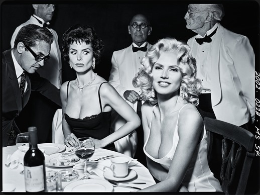 Sophia Loren checks out Jayne Mansfield. I would too!