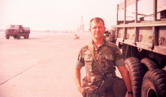 HM1-Desert Storm 1991 and one of the trucks I drove sometimes.