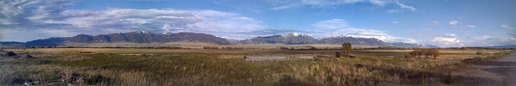 Panorama from Google+ of the view from the Ennis RV Park.
