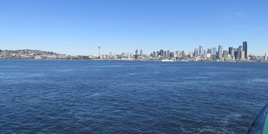 Picture I Took Going Into Seattle By Ferry
