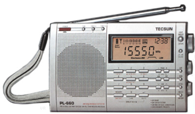 The Tecsun PL-660 is an compact portable radio covering AM (520-1710 kHz), long wave, shortwave, VHF air and FM bands.