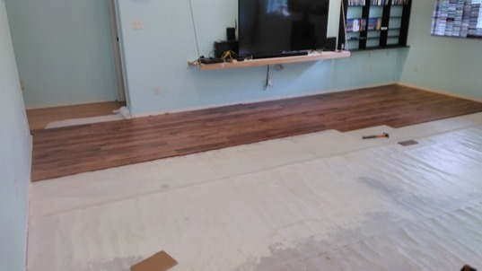 Putting Flooring In The Big Room